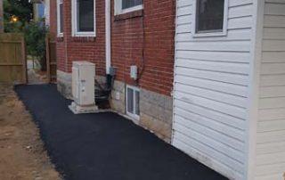 pavement next to home