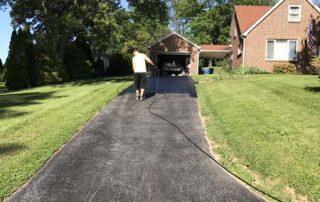 freshly paved driveway